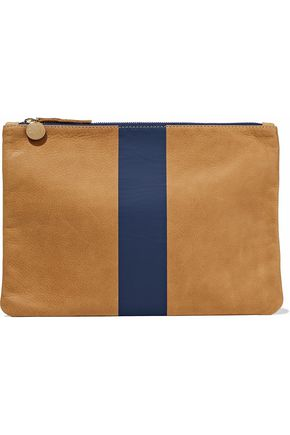 MASTER&MUSE x CLARE V. Striped leather pouch