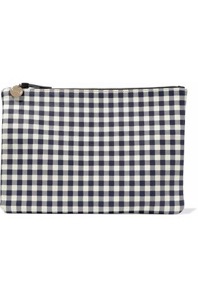 MASTER&MUSE x CLARE V. Gingham leather pouch