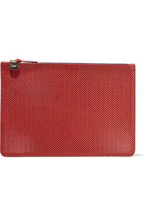 MASTER&MUSE x CLARE V. Perforated leather pouch