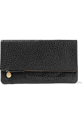 MASTER&MUSE x CLARE V. Textured-leather clutch