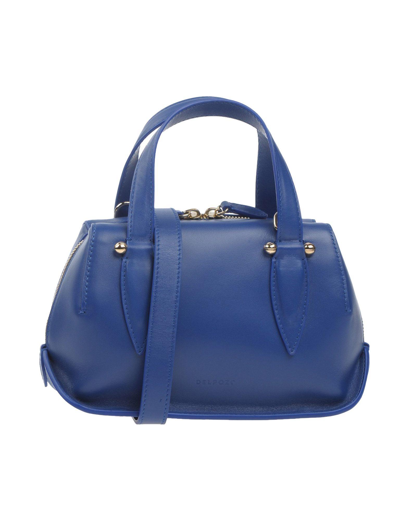 DELPOZO レディース ハンドバッグ ブルー 革