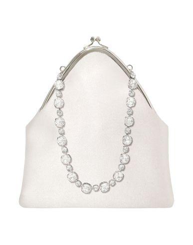 CA & LOU レディース ハンドバッグ ホワイト シルク 60% / クリスタル 25% / 真鍮/ブラス 15%