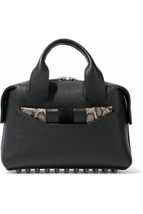 ALEXANDER WANG Studded textured-leather shoulder bag