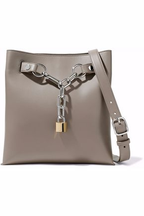ALEXANDER WANG Chain-embellished leather tote
