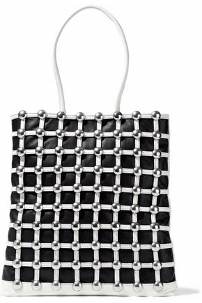 ALEXANDER WANG Studded two-tone leather tote