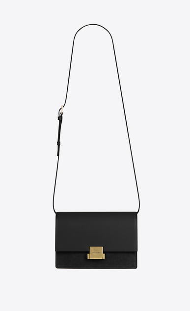 SAINT LAURENT Bellechasse Woman Medium BELLECHASSE SAINT LAURENT bag in black leather and suede a_V4