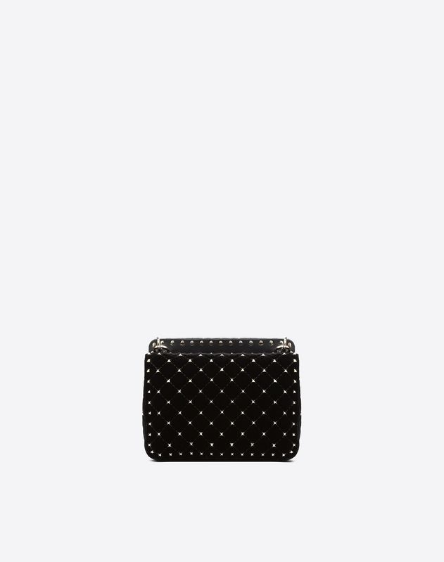 Medium Velvet Rockstud Spike Bag