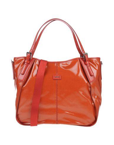 TOD'S レディース ハンドバッグ 赤茶色 革