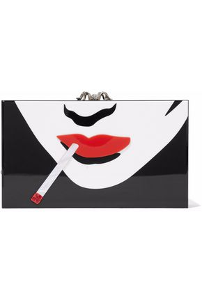CHARLOTTE OLYMPIA Embellished acrylic box clutch