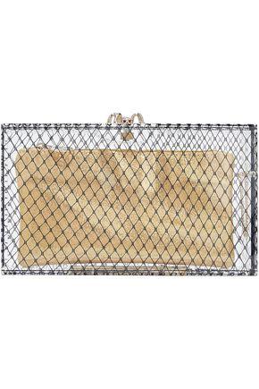 CHARLOTTE OLYMPIA Embellished printed Plexiglas® clutch