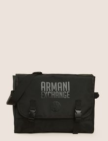 ARMANI EXCHANGE TONAL CIRCLE LOGO MESSENGER BAG Messenger Bag Man f
