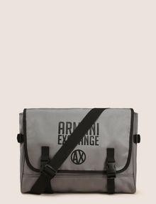 ARMANI EXCHANGE TONAL CIRCLE LOGO MESSENGER BAG Messenger bag Man f