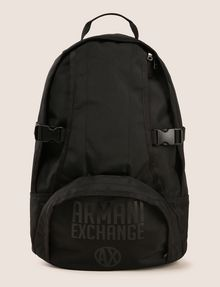 ARMANI EXCHANGE TONAL CIRCLE LOGO BACKPACK Backpack Man f