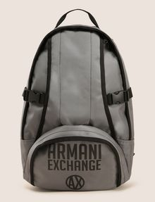 ARMANI EXCHANGE TONAL CIRCLE LOGO BACKPACK Backpack Man f