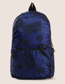ARMANI EXCHANGE CIRCLE LOGO NYLON BACKPACK Backpack Man f