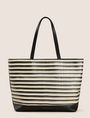 ARMANI EXCHANGE WOVEN-FRONT ZIP-TOP TOTE Tote bag Woman f