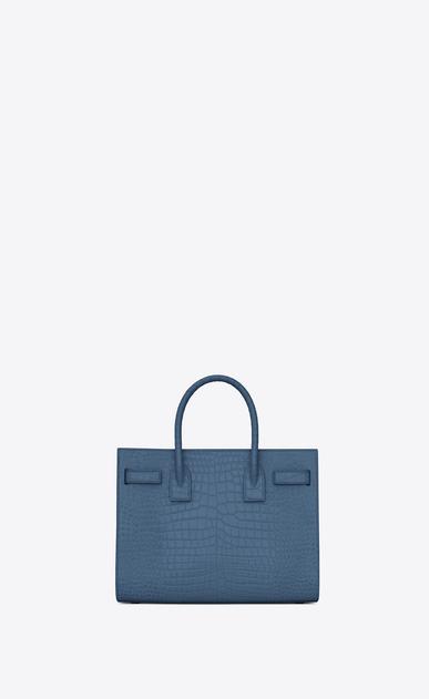 SAINT LAURENT Baby Sac de Jour D classic Baby SAC DE JOUR Bag in denim blue Crocodile Embossed Shiny Leather b_V4