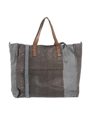 CATERINA LUCCHI レディース ハンドバッグ グレー 柔らかめの牛革 / 紡績繊維