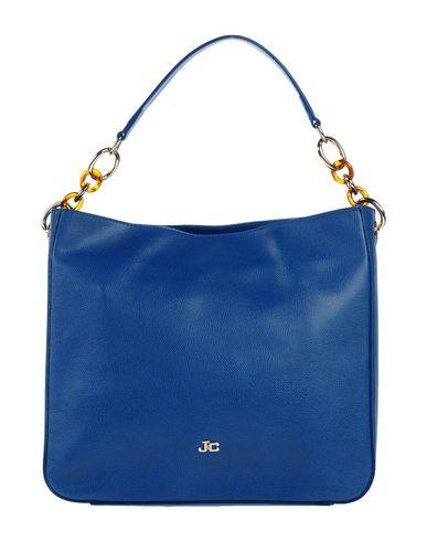 J & C JACKYCELINE レディース ハンドバッグ ブルー 革