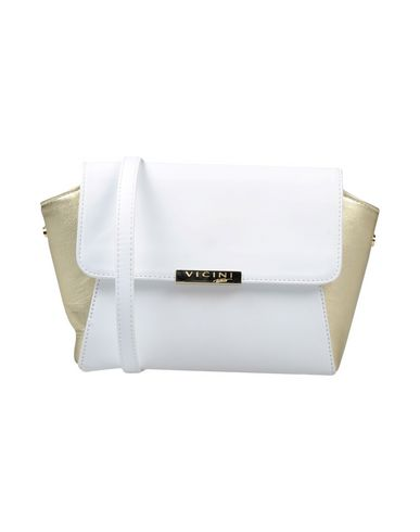 VICINI TAPEET レディース ハンドバッグ ホワイト 革