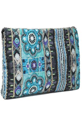 ANTIK BATIK Embellished cotton clutch