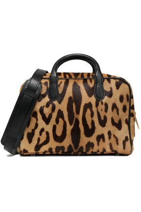 BALMAIN Leopard-print calf hair shoulder bag