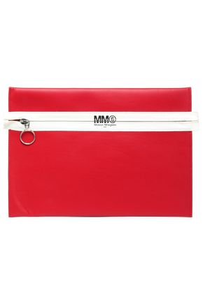 MM6 MAISON MARGIELA Two-tone faux-leather clutch