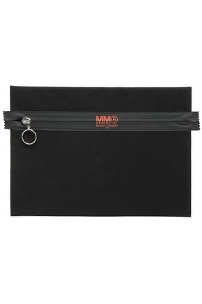 MM6 MAISON MARGIELA Two-tone cotton-canvas clutch