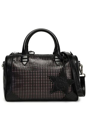 JUST CAVALLI Laser-cut leather shoulder bag