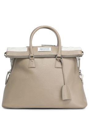MAISON MARGIELA Textured-leather tote