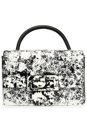 MAISON MARGIELA Coated printed faux leather shoulder bag