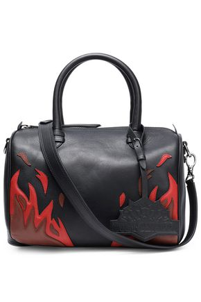 JUST CAVALLI Embroidered leather shoulder bag