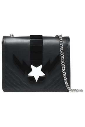 JUST CAVALLI Appliquéd leather shoulder bag