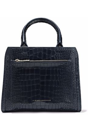 VICTORIA BECKHAM Croc-effect leather shoulder bag