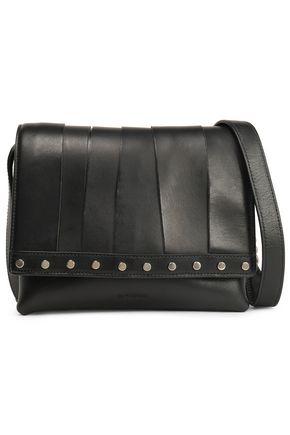 JIL SANDER Stud-embellished leather shoulder bag