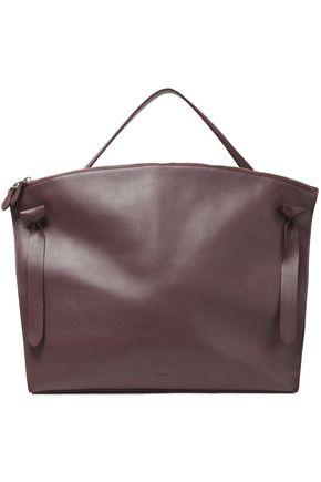 JIL SANDER Strap-detailed leather tote