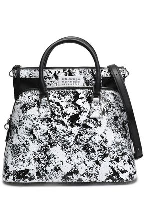 MAISON MARGIELA Coated printed faux-leather shoulder bag