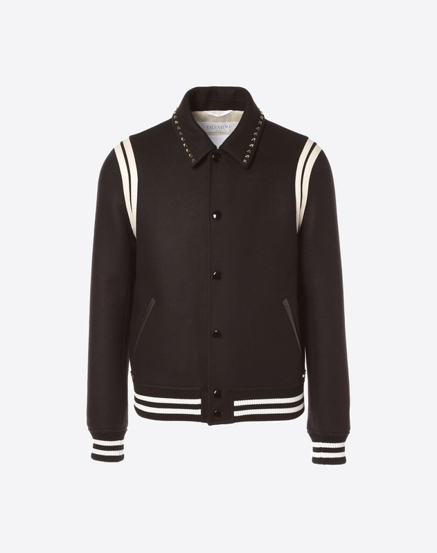 Rockstud Untitled Varsity Jacket
