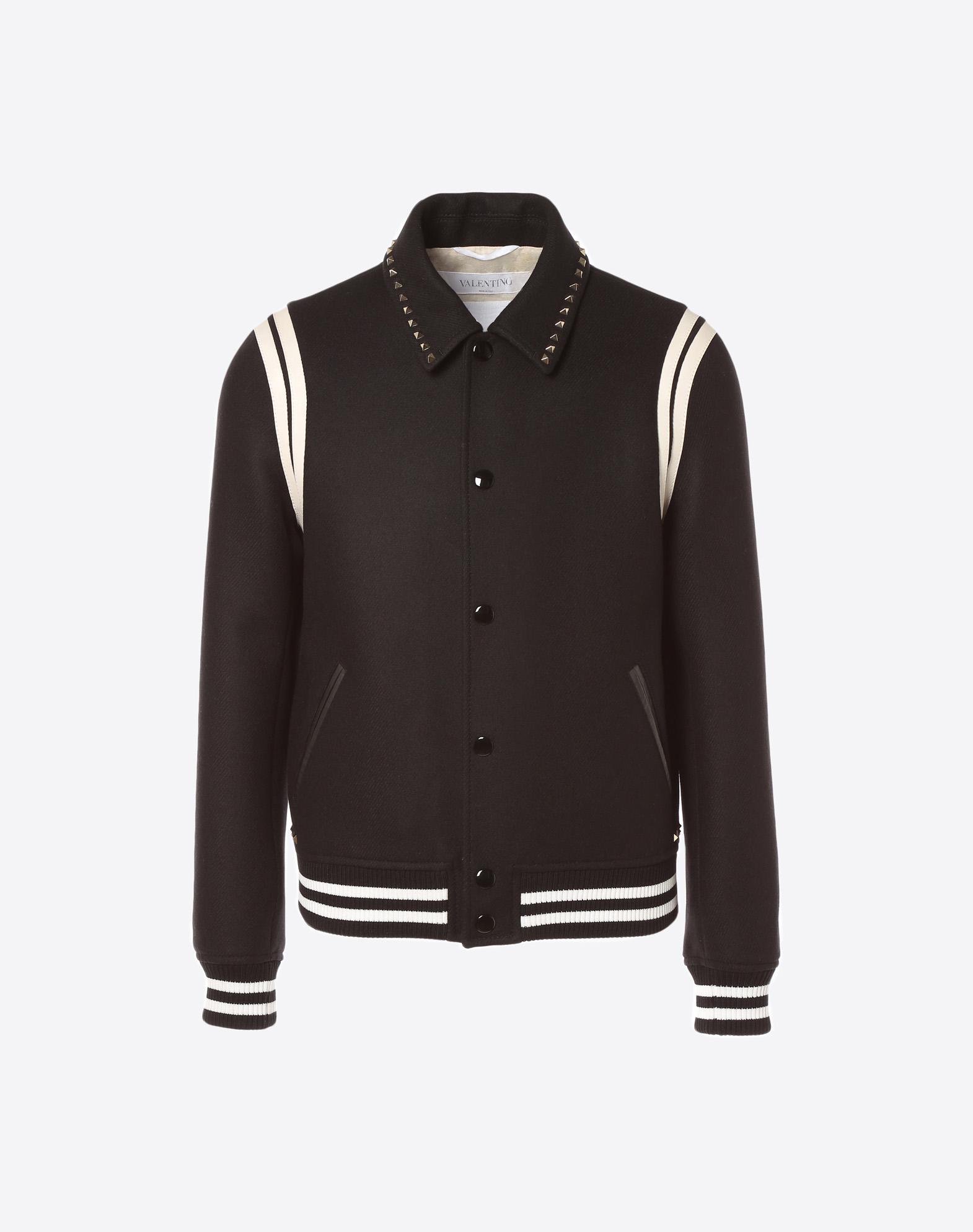 Rockstud Untitled Varsity Jacket