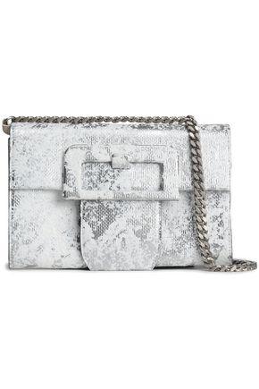MAISON MARGIELA Painted metallic textured-leather shoulder bag