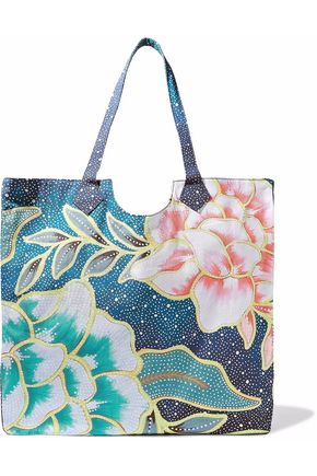 MARA HOFFMAN Printed cotton-canvas tote