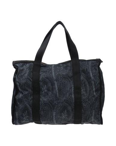 ETRO レディース ハンドバッグ スチールグレー 紡績繊維