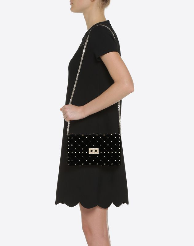 Crossbody Bag Rockstud Spike mit Trägerkette