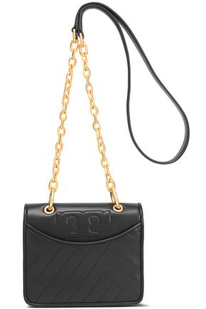 TORY BURCH Quilted mini leather shoulder bag