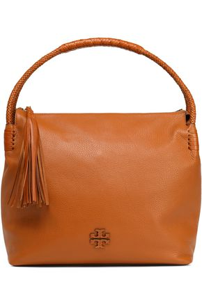 TORY BURCH Tasseled textured leather tote