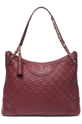 TORY BURCH Tasseled quilted leather tote