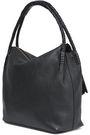 TORY BURCH Tasseled textured-leather shoulder bag
