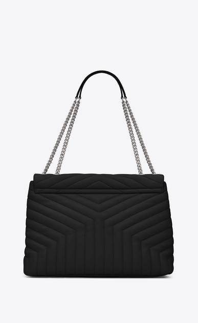 SAINT LAURENT Monogramme Loulou Femme grand sac loulou à chaine en cuir matelassé «y» noir b_V4