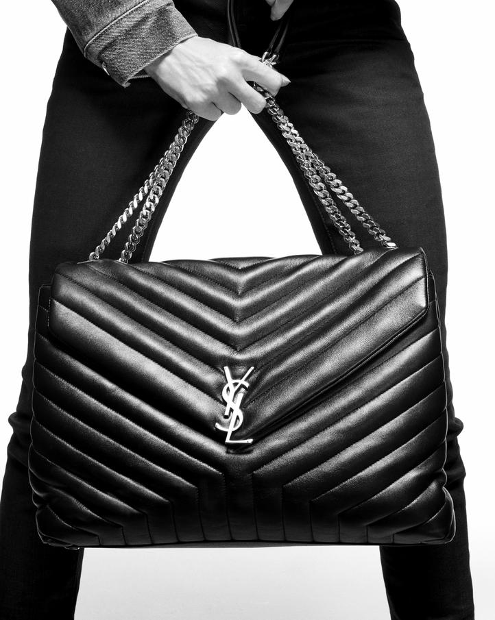 Saint Laurent Large Loulou Chain Bag In Black Quot Y
