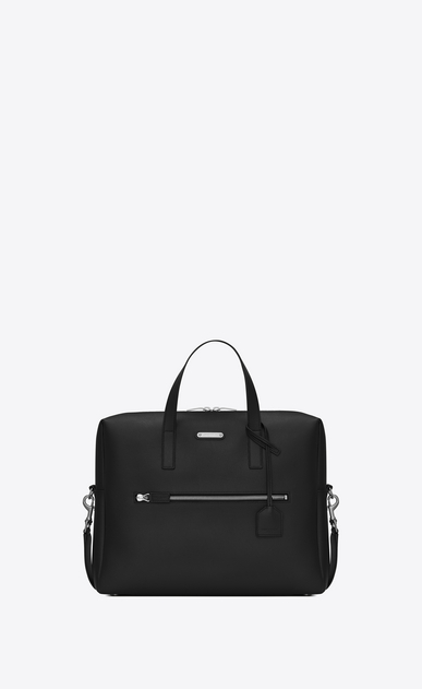SAINT LAURENT Business U porte-documents bold en cuir noir a_V4